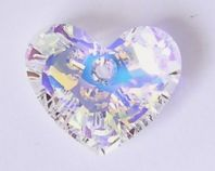 6264 Swarovski Truly in Love Heart pendant 18mm Crystal AB